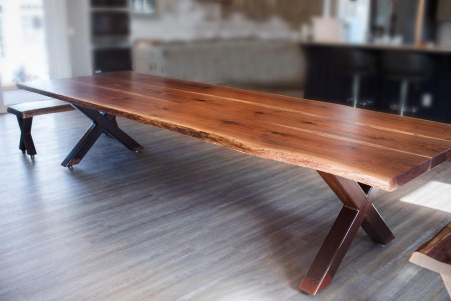 Knoched VA Custom 8' Hardwood Farmtable